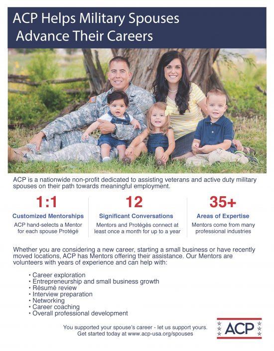 ACP Military Spouse Program Flyer