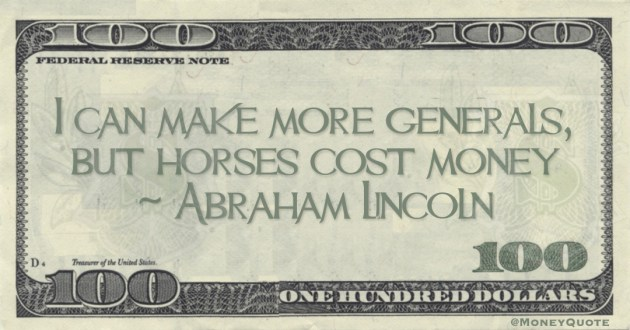 can make more generals, but horses cost money Quote
