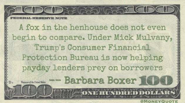 Mick Mulvany helping payday lenders prey on borrowers Quote