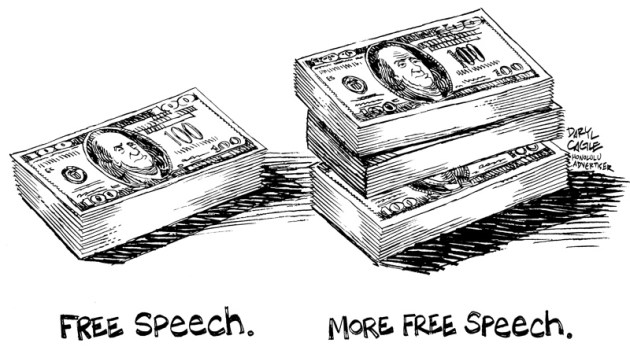 Free Speech by Daryl Cagle - CagelCartoons 3-2001