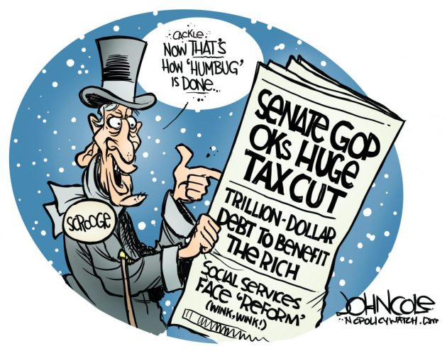 John Cole Scrooge Loves Trump Tax Cut for the Rich