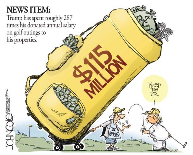 John Cole Trump Golf Spending