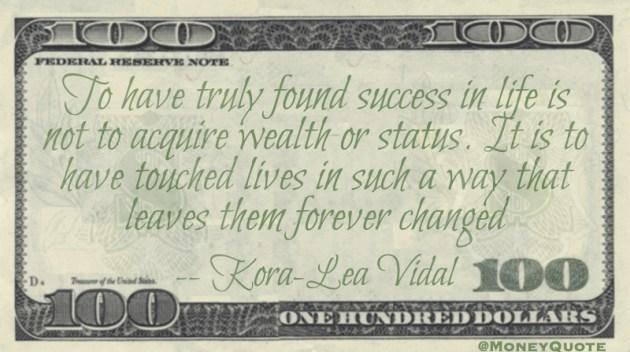 Kora-Lea Vidal Quote