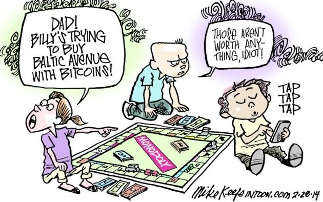 Bitcoins as Monopoly Game Money