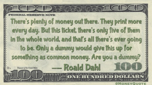 Sell Tickets Money Dummy Quote