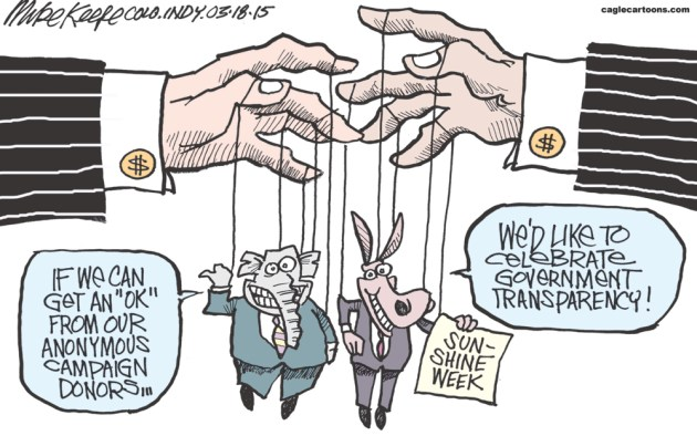 Sunshine Week - Anonymous Donors: Mike Keefe, Cagle Cartoons