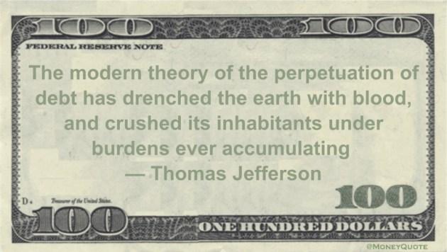 Thomas Jefferson Crushing Debt Accumulation