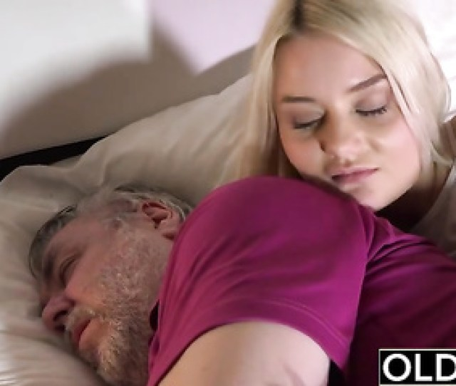 Skinny Teen Sucks The Cock Of An Old Man She Swallows Cum