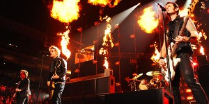 Green Day performing at the American Music Awards