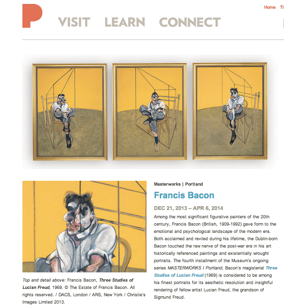 "Francis Bacon, ""Three Studies of Lucian Freud,"" (1969). © The Estate of Francis Bacon."