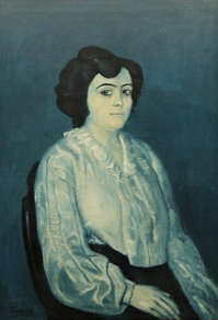 """P. Picasso, """"Madam Soler"""" (1903)"""