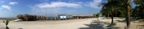 Another panoramic view of the beach
