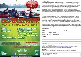 Flyer + application Form for Kayak XPD 2012