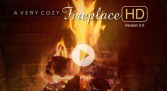 FOR SOOTHING YOUR NERVES: A VERY COZY FIREPLACE HD