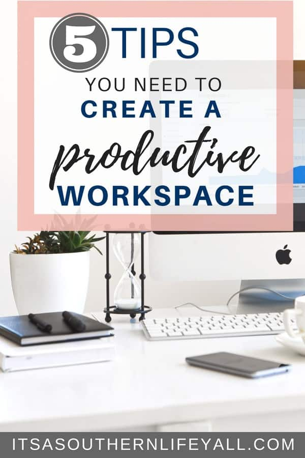 Create a productive workspace following these 5 tips to increase productivity. Tips and hacks to increase time management allowing you to work smarter not harder.