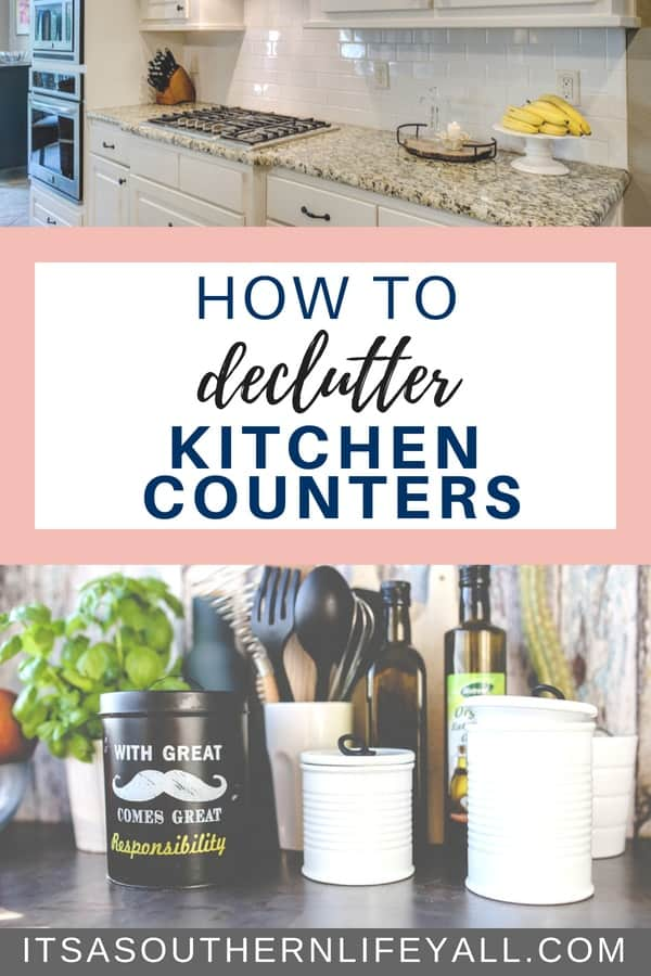 Easy organizing tips to help you declutter your kitchen counters. Clutter is everywhere especially in the hub of your home. Kitchen hacks makes ridding the clutter and organization simple.