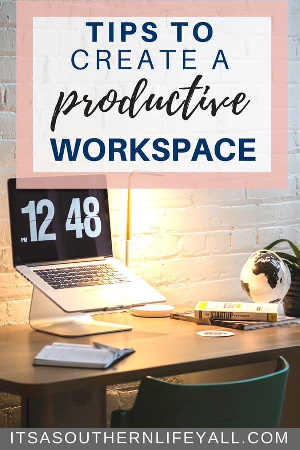 Creating a productive workspace is a top time management tip. Having an organized desk increases your productivity.