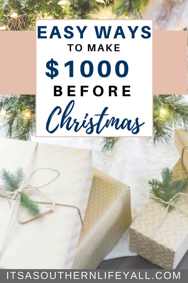 Easy ways to make money for Christmas. Make $1000 or even more using these tips to create extra income in time for the holidays. Have a debt free Christmas with side hustle jobs.