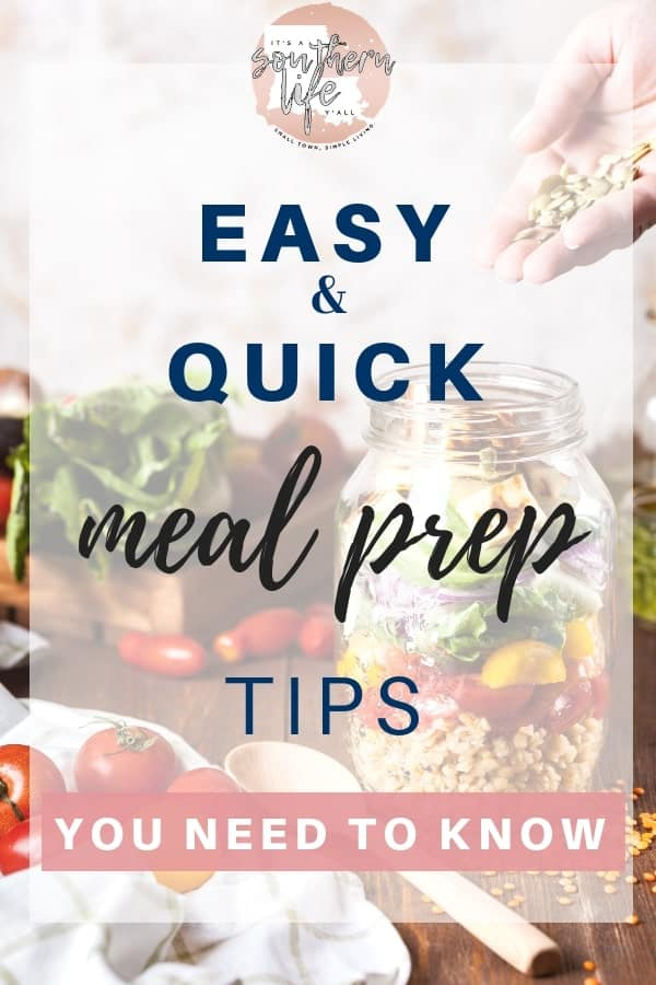 Meal prep tips that are easy and quick to help save time and money every week. Free up time in the evening when you have planned and prepped your meals.