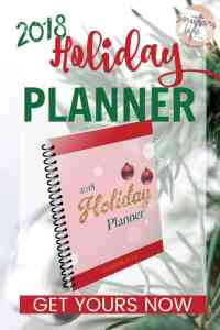2018 Holiday Planner Printable Download