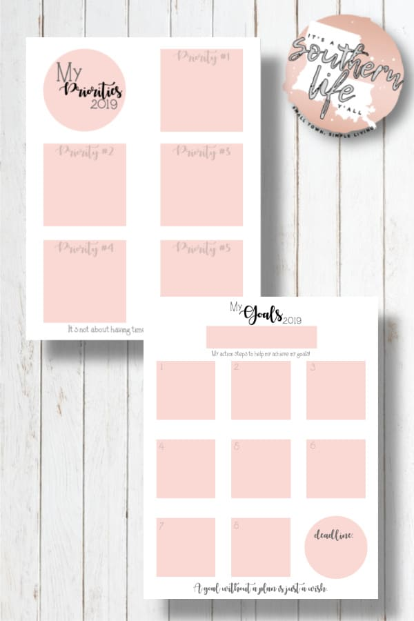 Set your priorities and achieve your goals using this free planner and the easy steps in this post.
