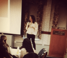 Lecturing at Assumption College in February 2013.