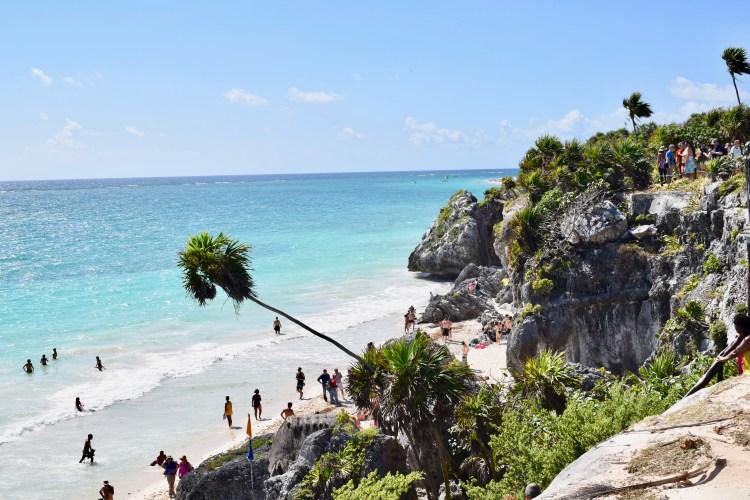white sand beaches of cancun mexico, paradise island, resorts on hotel zone, tulum beach
