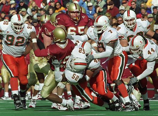 Miami Hurricanes Boston College Eagles 1999