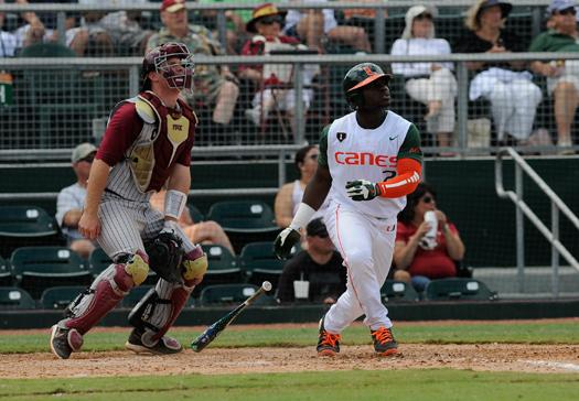 miami florida state baseball hurricanes seminoles mark light alex rodriguez park april 2013