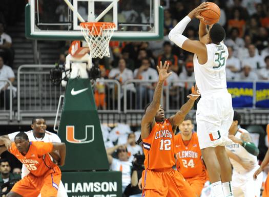 miami hurricanes basketball highlights kenny kadji jim larranaga ncaa march madness acc champions nba combine draft
