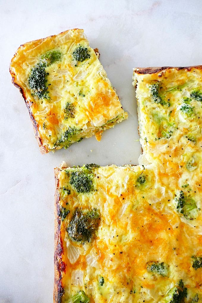 Easy Broccoli and Cheese Egg Bake