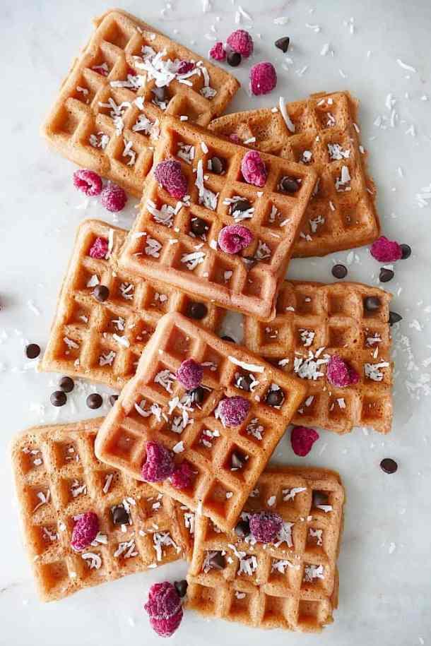 Paleo Grain Free Beet Waffles