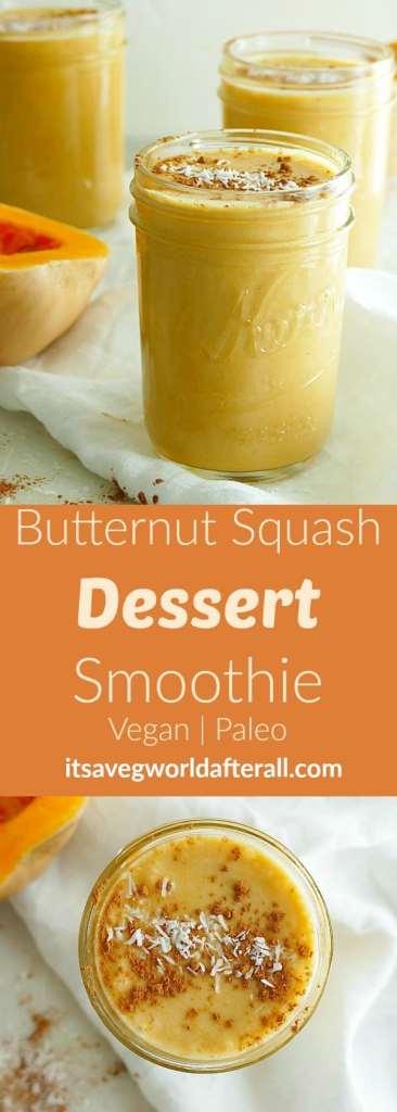 Vegan Butternut Squash Dessert Smoothie