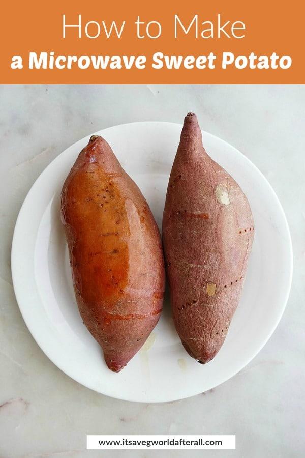 easiest microwave sweet potato recipe