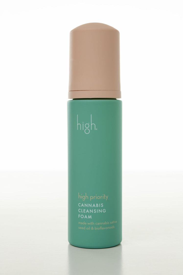 high beauty cannabis cleansing foam