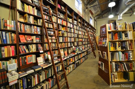 Shelves of books at Weller Book Works at Trolley Square in Salt Lake City