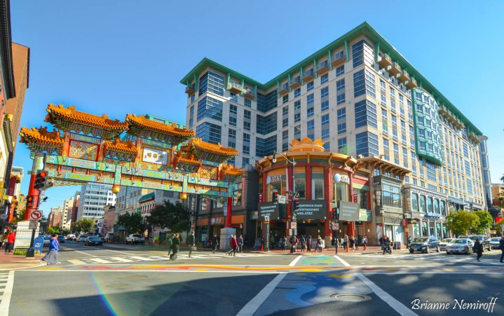 the entrance to Chinatown in D.C.