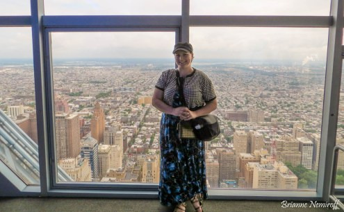 Brianne Nemiroff of It's Bree and Ben at One Liberty Observation Deck in Philadelphia
