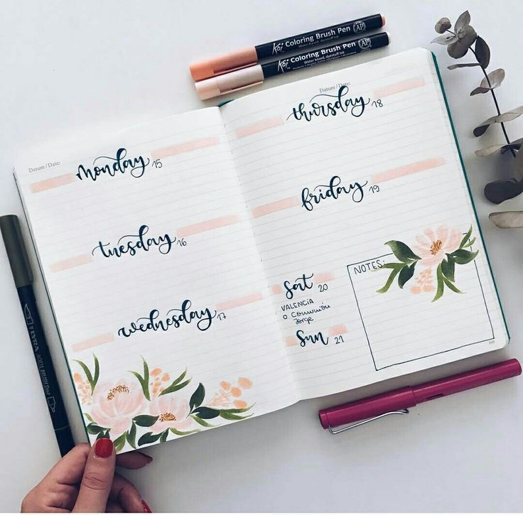 Classy-flowers-bullet-journal-weekly-planner