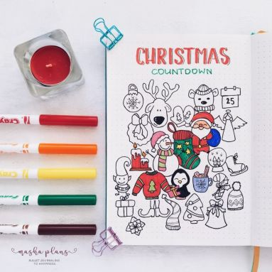Christmas Doodle Countdown