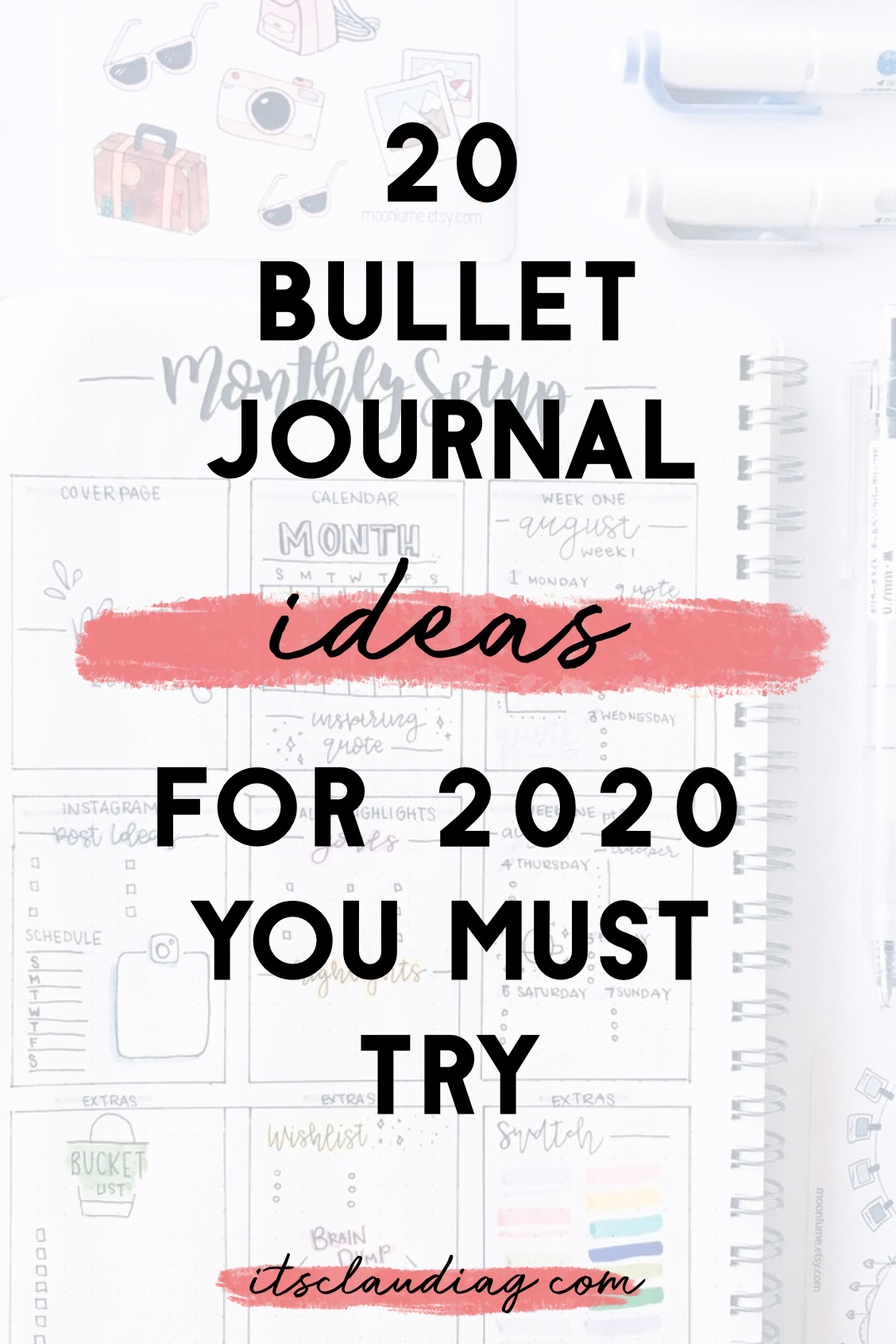 20 Bullet Journal Ideas for February   Its Claudia G