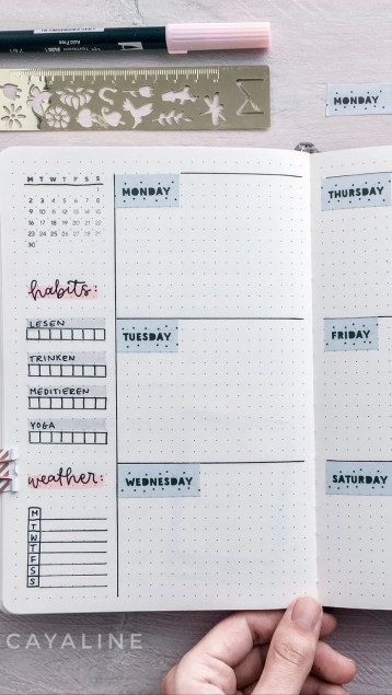 bullet journal ideas february