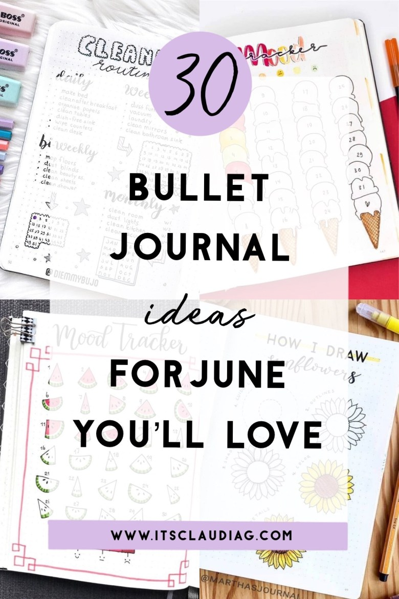 20 June Bullet Journal Ideas You'll Love   Its Claudia G