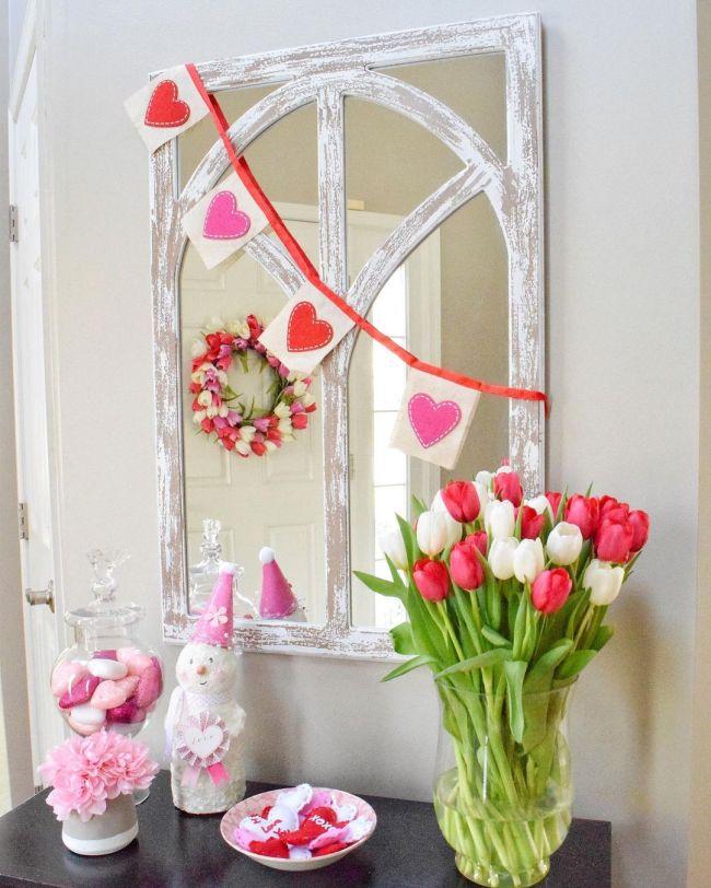 Valentines Day decorations bedroom