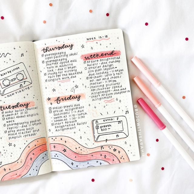 january bullet journal mood tracker