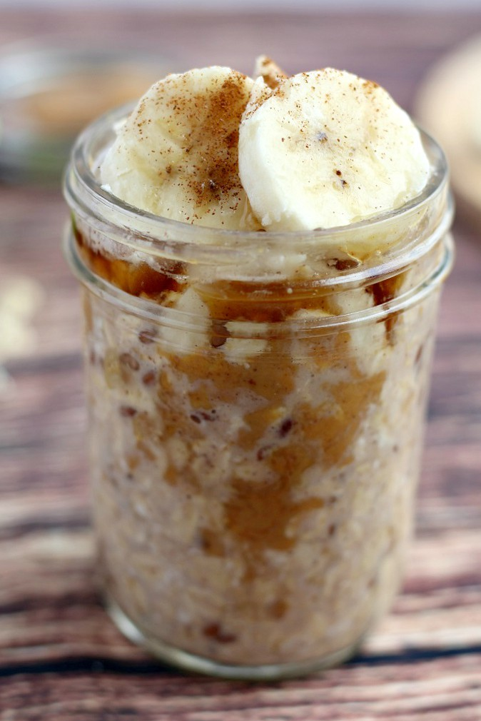 Healthy overnight oats protein