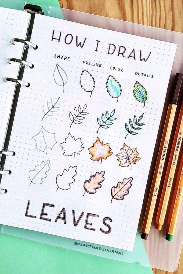Bullet journal doodles ideas