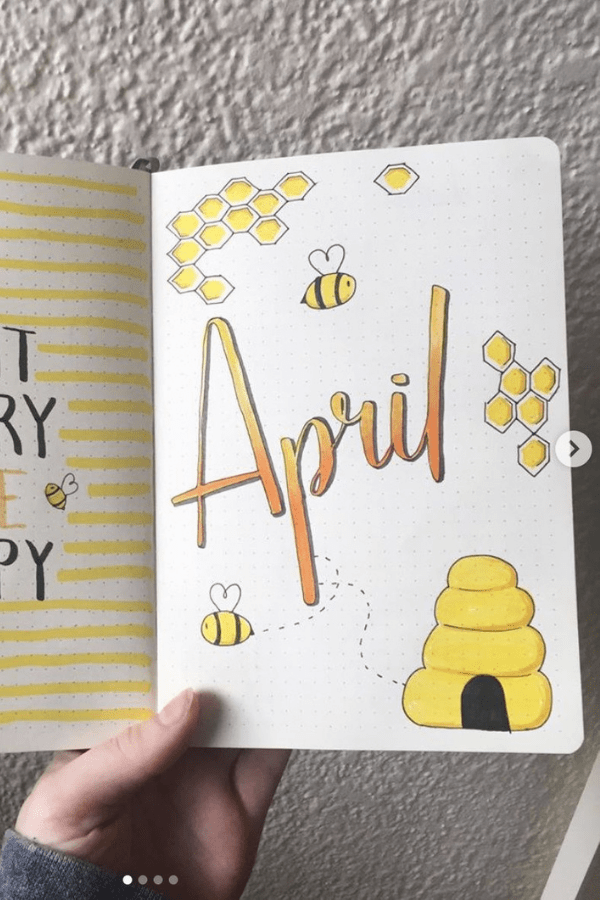 April 2021 bullet journal