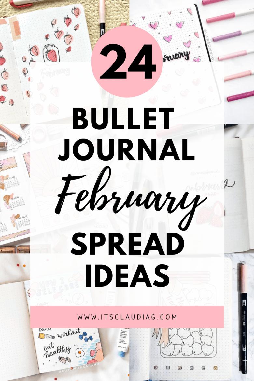 february bullet journal spread