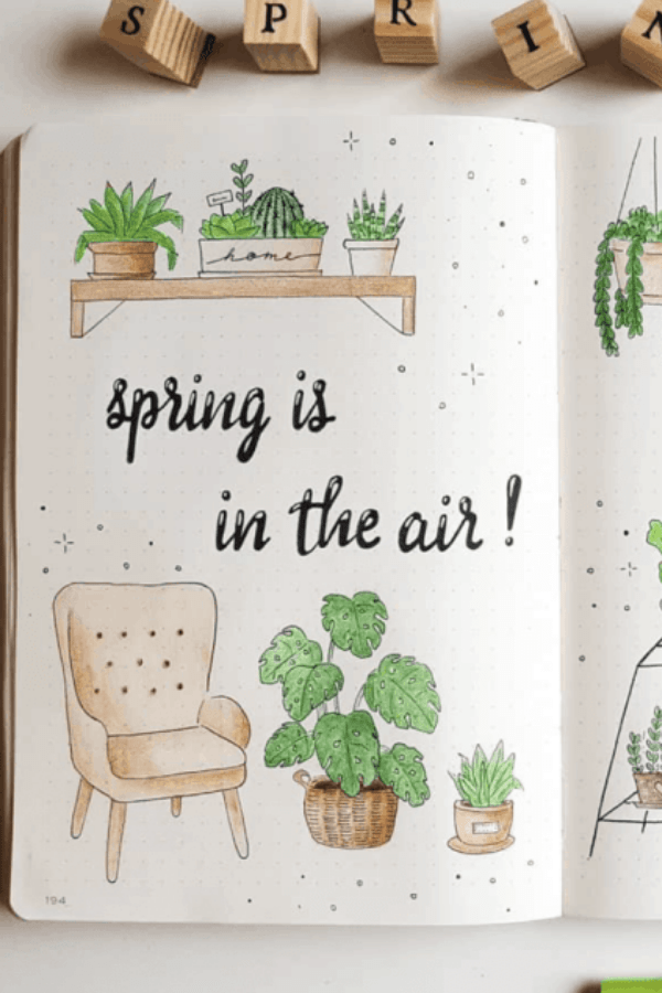 March bullet journal themes